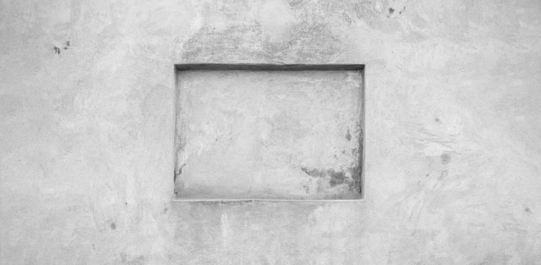 Une niche murale épurée en béton