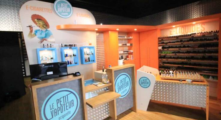 Aménagement d'un magasin de cigarette électronique