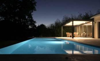 Eclairage de piscine et pergola