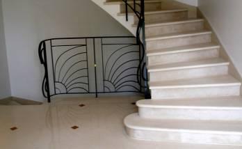 Rénovation d'escalier avec application d'un béton ciré à Cholet (49)