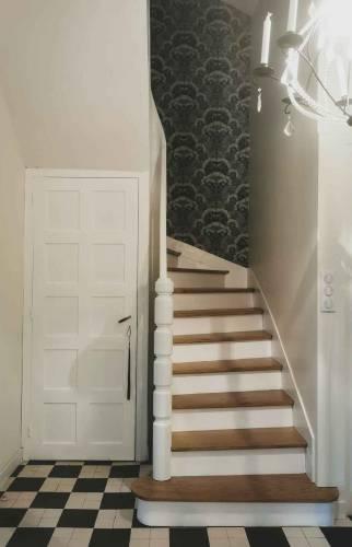 départ de l'escalier