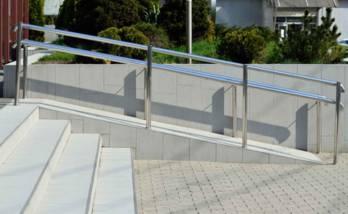 Installation d'une rampe d'accès à Belfort