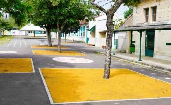 Rénover une cour d'école à Paris 8