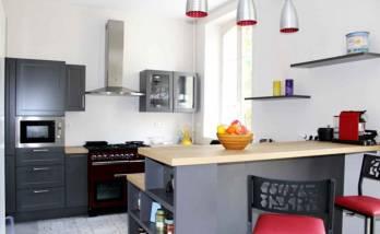 Rénovation d'un appartement à Versailles - Ouverture de la cuisine sur la salon