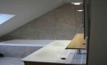Versailles - Rénovation salle de bain - APRES - salle de bain et salle d'eau