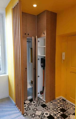 Aménagement entrée avec niche et vestiaire - Bayonne -
