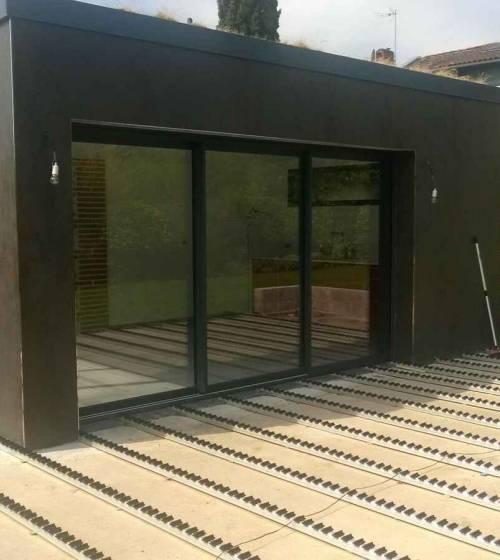 Pool house et terrasse