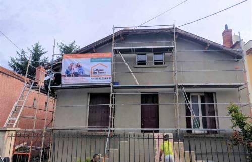 Ravalement de Façade Lyon Bron - Maison avant travaux