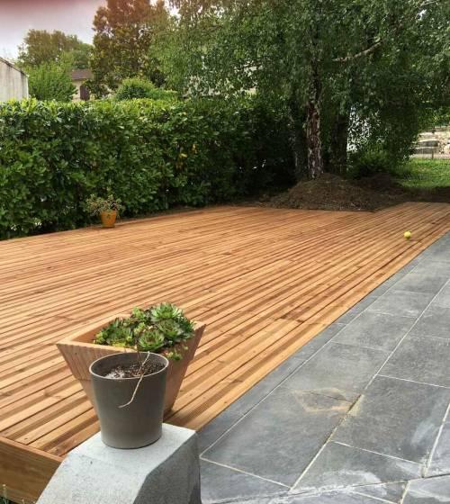 Création d'une terrasse en bois à Paris 8