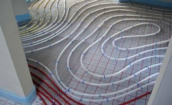 Installation d'un chauffage au sol à Belfort