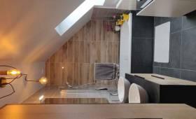Rénovation salle de bain sous comble Essonne