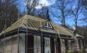 Maison à Brétigny en Essonne après les travaux de couverture.