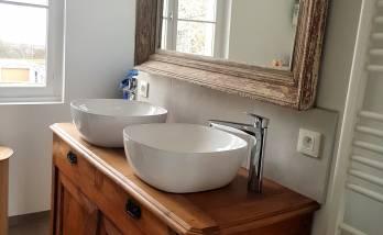 Salle de bain d'un appartement à Cholet (49)