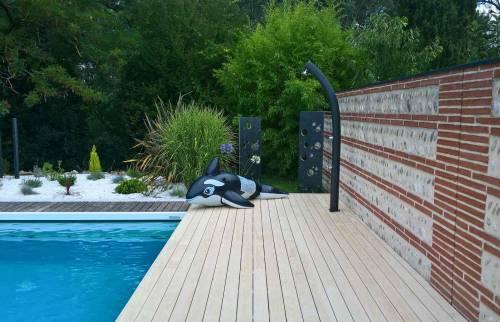 ménagement terrasse autour piscine - Anglet -
