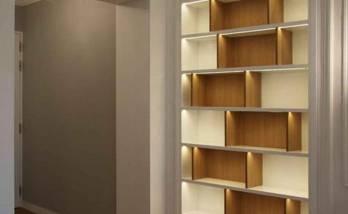 rénovation appartement - meuble bibliothèque sur mesure