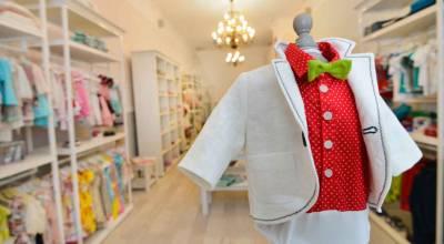 aménagement magasin de vêtements pour enfants