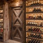 une cave à vins dans une maison